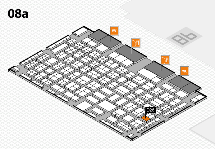 COMPAMED 2016 hall map (Hall 8a): stand D26