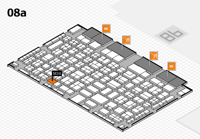 COMPAMED 2016 hall map (Hall 8a): stand M34