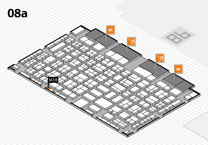 COMPAMED 2016 hall map (Hall 8a): stand M38