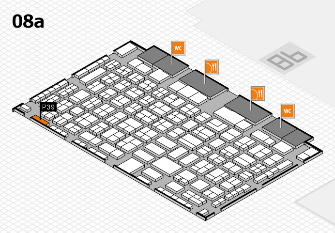 COMPAMED 2016 hall map (Hall 8a): stand P39