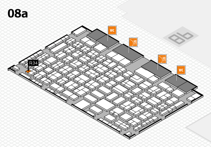 COMPAMED 2016 hall map (Hall 8a): stand R34
