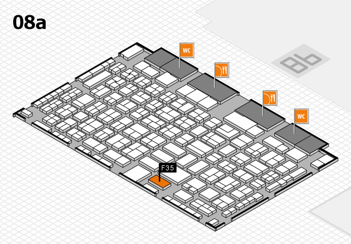 COMPAMED 2016 hall map (Hall 8a): stand F35