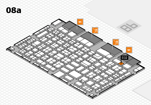 COMPAMED 2016 hall map (Hall 8a): stand E02