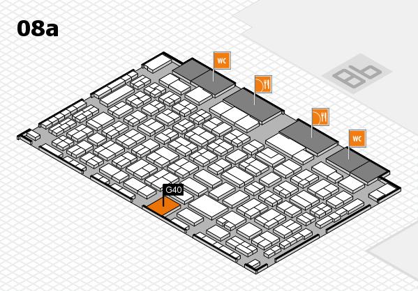 COMPAMED 2016 Hallenplan (Halle 8a): Stand G40