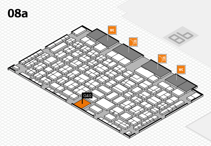COMPAMED 2016 hall map (Hall 8a): stand G40