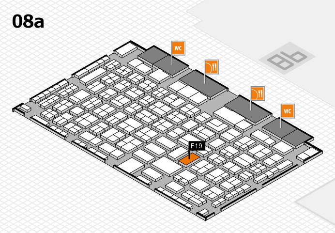 COMPAMED 2016 hall map (Hall 8a): stand F19