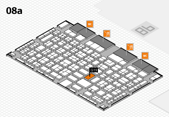 COMPAMED 2016 hall map (Hall 8a): stand G19