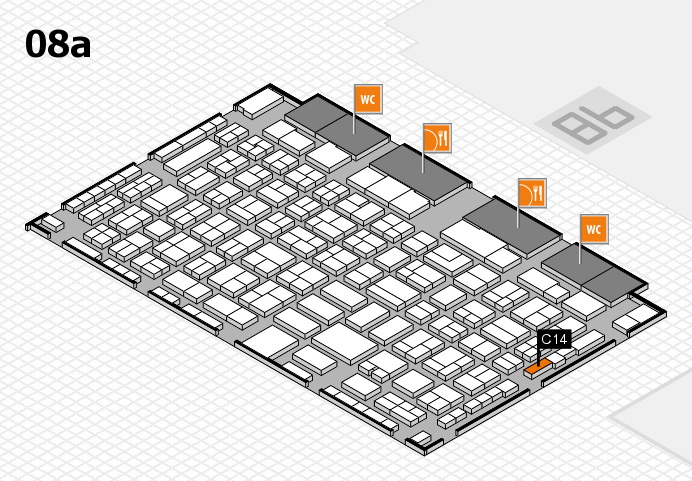 COMPAMED 2016 hall map (Hall 8a): stand C14