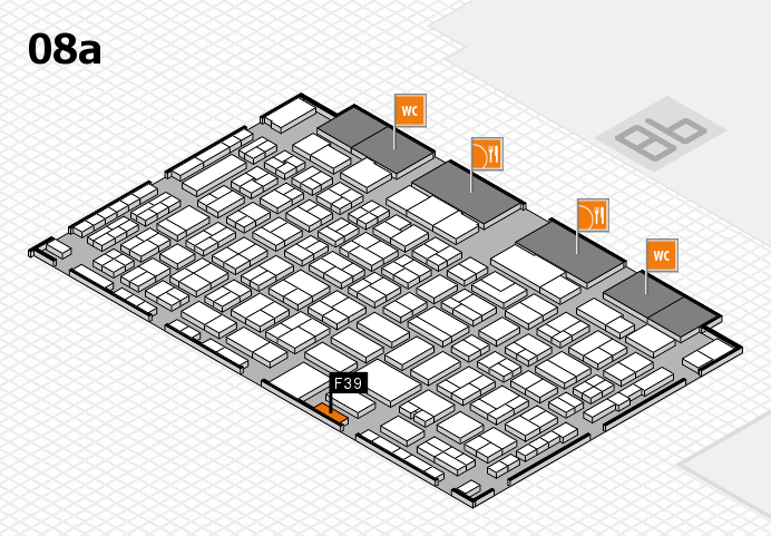 COMPAMED 2016 hall map (Hall 8a): stand F39