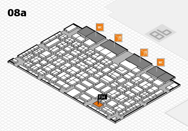 COMPAMED 2016 Hallenplan (Halle 8a): Stand F34
