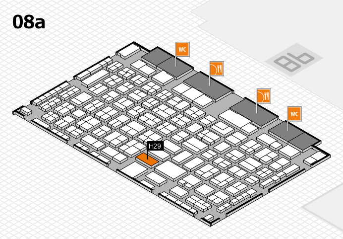 COMPAMED 2016 hall map (Hall 8a): stand H29