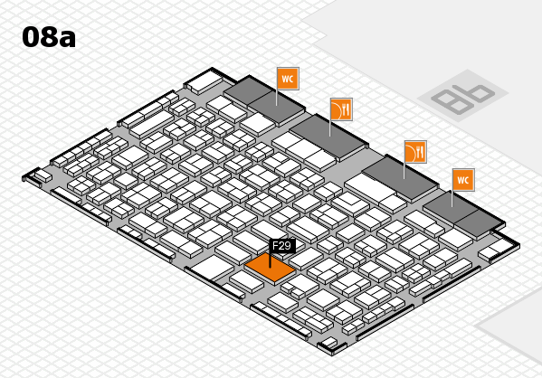 COMPAMED 2016 hall map (Hall 8a): stand F29