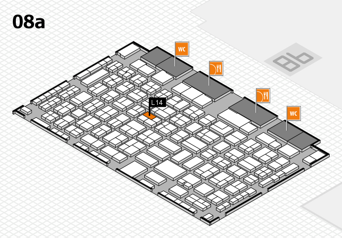 COMPAMED 2016 hall map (Hall 8a): stand L14