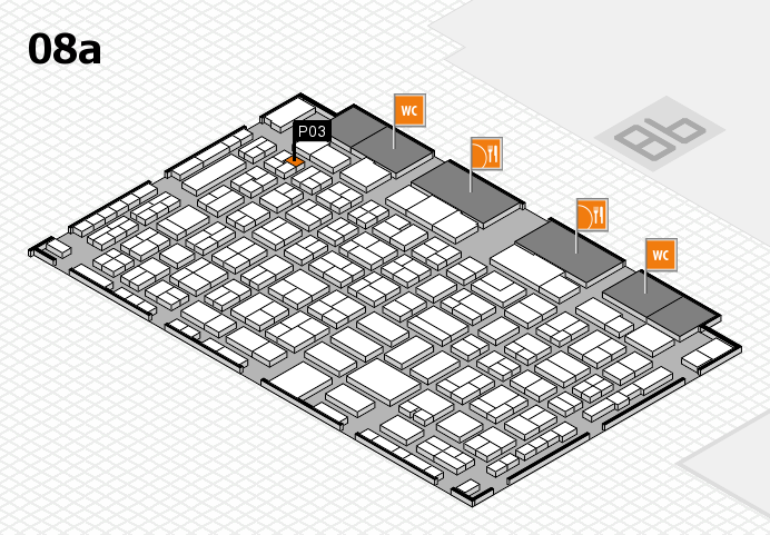 COMPAMED 2016 hall map (Hall 8a): stand P03