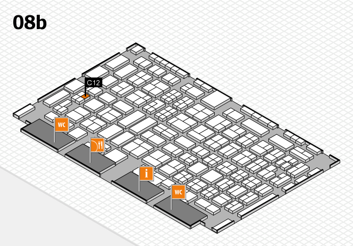COMPAMED 2016 hall map (Hall 8b): stand C12