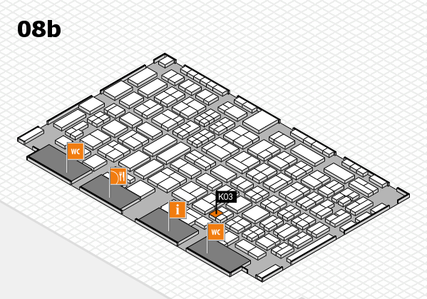 COMPAMED 2016 hall map (Hall 8b): stand K03