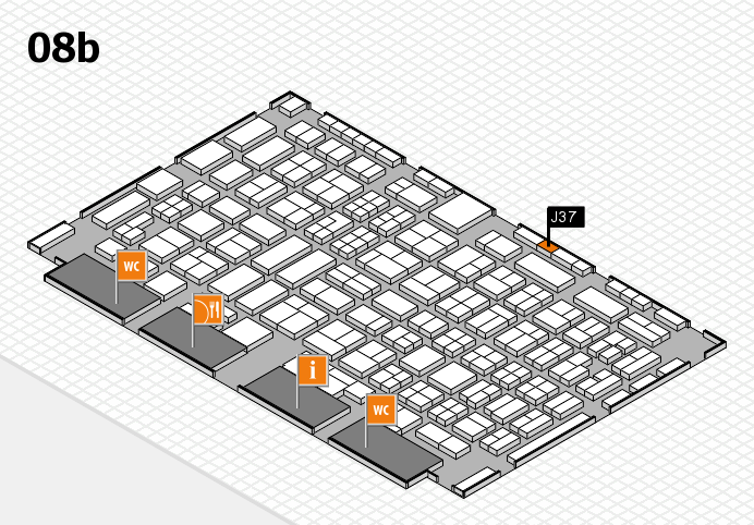 COMPAMED 2016 hall map (Hall 8b): stand J37
