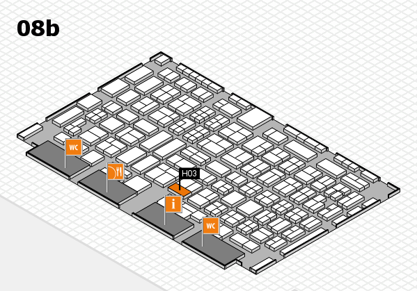 COMPAMED 2016 hall map (Hall 8b): stand H03
