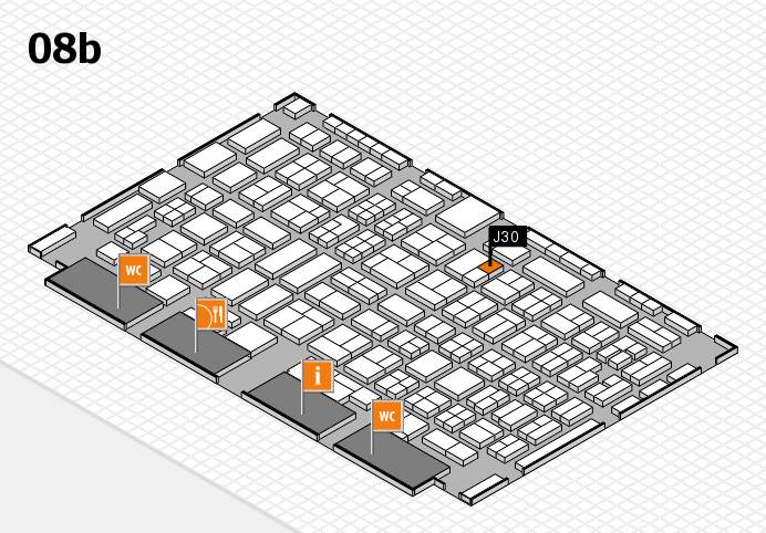 COMPAMED 2016 hall map (Hall 8b): stand J30