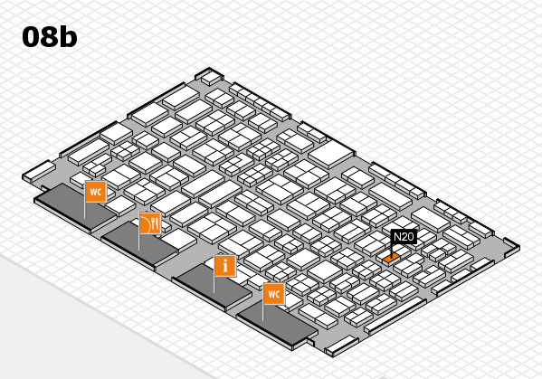 COMPAMED 2016 hall map (Hall 8b): stand N20