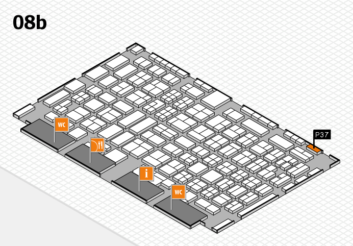 COMPAMED 2016 hall map (Hall 8b): stand P37