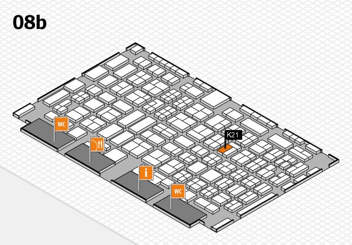 COMPAMED 2016 hall map (Hall 8b): stand K21