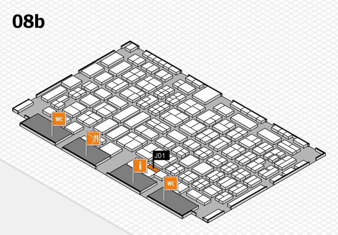 COMPAMED 2016 hall map (Hall 8b): stand J01