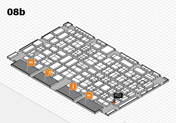 COMPAMED 2016 hall map (Hall 8b): stand P03