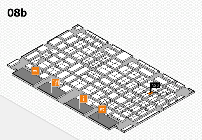 COMPAMED 2016 hall map (Hall 8b): stand N26