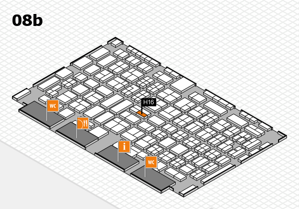 COMPAMED 2016 hall map (Hall 8b): stand H16