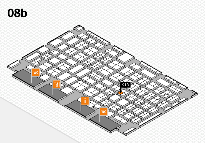 COMPAMED 2016 hall map (Hall 8b): stand K13