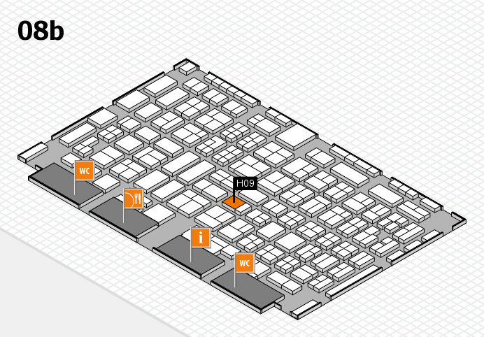 COMPAMED 2016 hall map (Hall 8b): stand H09