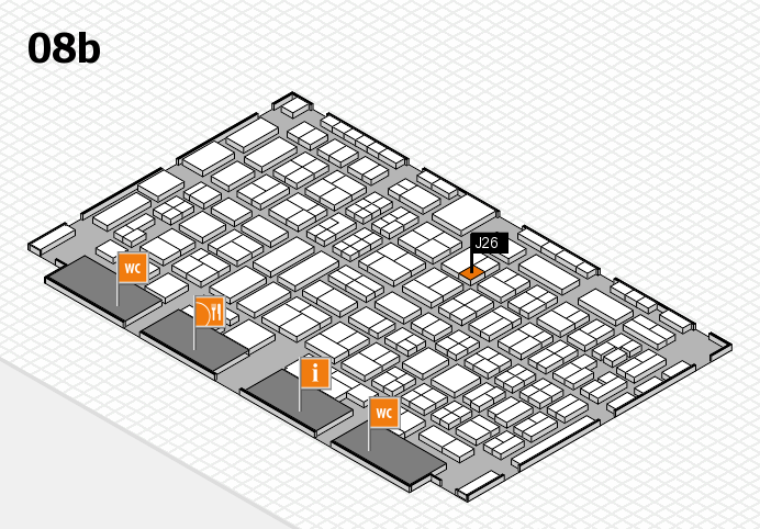 COMPAMED 2016 hall map (Hall 8b): stand J26