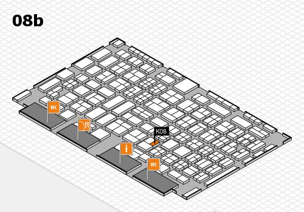 COMPAMED 2016 hall map (Hall 8b): stand K08