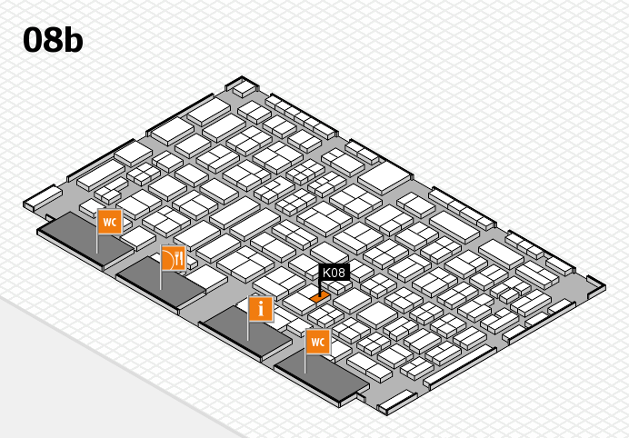 COMPAMED 2016 hall map (Hall 8b): stand K08