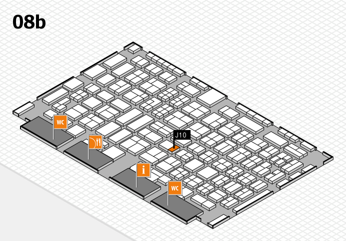 COMPAMED 2016 hall map (Hall 8b): stand J10