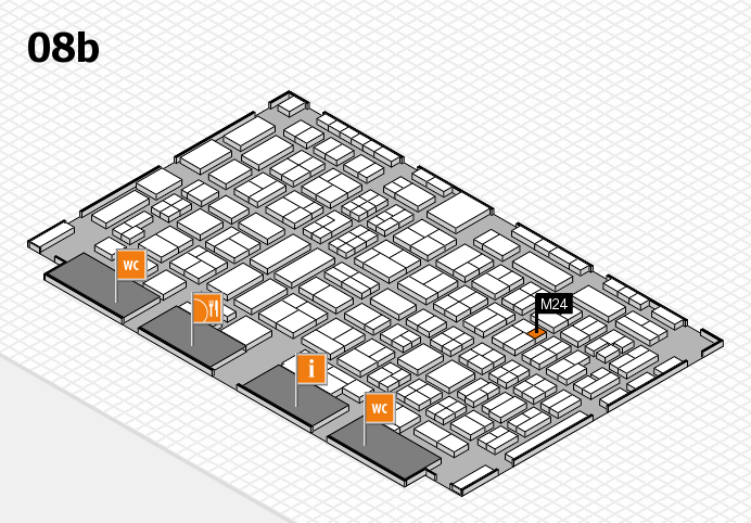 COMPAMED 2016 hall map (Hall 8b): stand M24