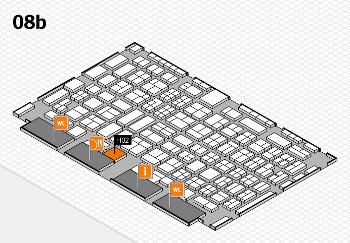 COMPAMED 2016 hall map (Hall 8b): stand H02