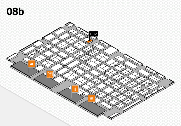 COMPAMED 2016 hall map (Hall 8b): stand E32