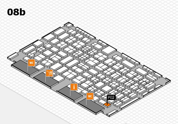 COMPAMED 2016 hall map (Hall 8b): stand P02