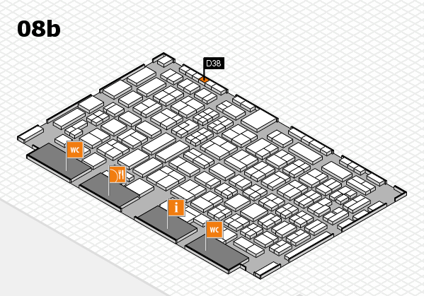 COMPAMED 2016 hall map (Hall 8b): stand D38