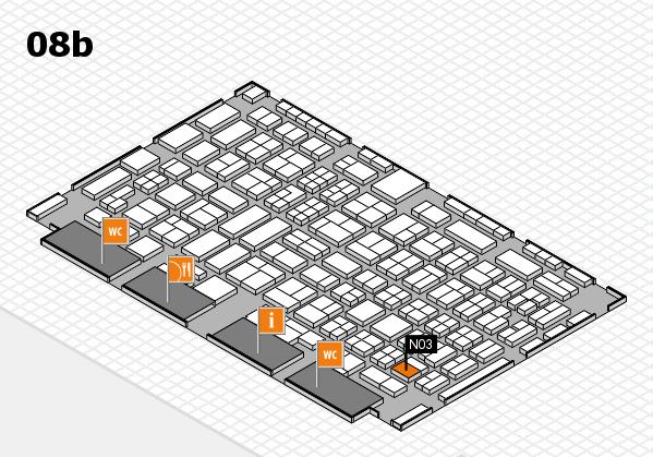 COMPAMED 2016 hall map (Hall 8b): stand N03