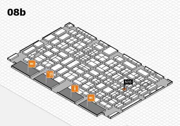 COMPAMED 2016 hall map (Hall 8b): stand N16