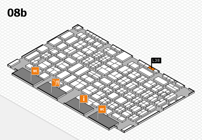 COMPAMED 2016 hall map (Hall 8b): stand L38