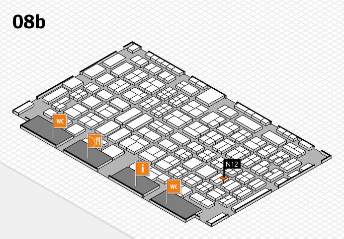 COMPAMED 2016 hall map (Hall 8b): stand N12