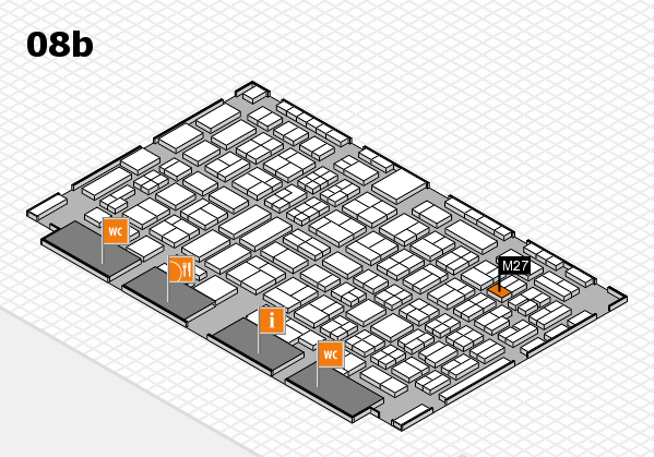 COMPAMED 2016 hall map (Hall 8b): stand M27