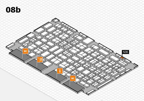 COMPAMED 2016 hall map (Hall 8b): stand N38