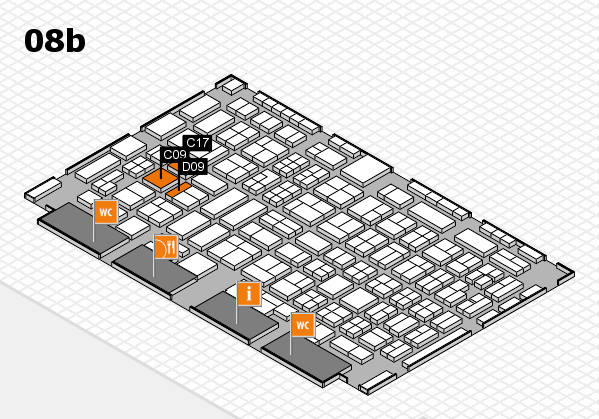 COMPAMED 2016 hall map (Hall 8b): stand C09, stand D09