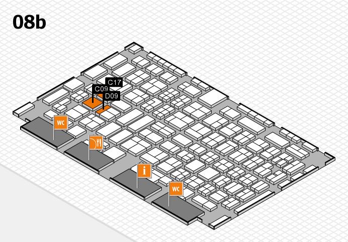 COMPAMED 2016 Hallenplan (Halle 8b): Stand C09, Stand D09