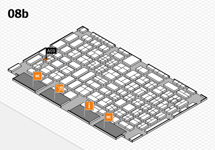 COMPAMED 2016 hall map (Hall 8b): stand A09